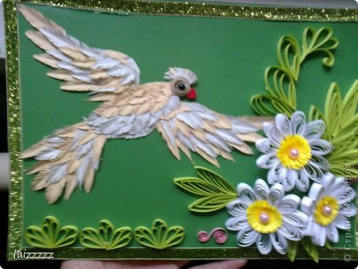 """Картина """"Букет цветов"""" в пастельных тонах. Квиллинг.  фото 6"""