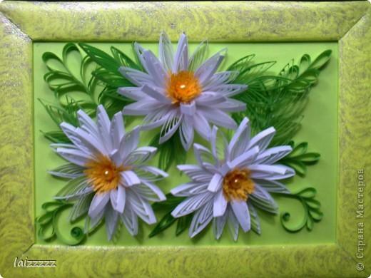"""Картина """"Букет цветов"""" в пастельных тонах. Квиллинг.  фото 3"""