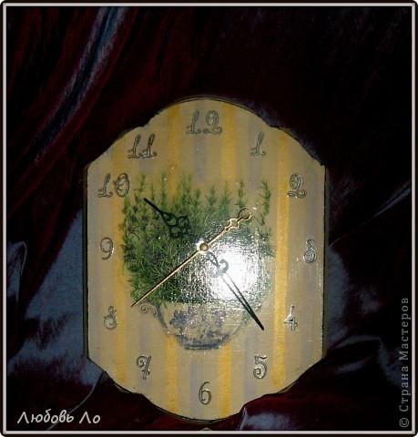 Вы наверное помните мои часы с розмарином. С этой же салфеткой сделала вешалку. Хотела сделать набор, но промахнулась с окрашиванием (опытные и глазастые заметят, для остальных я промолчу).  фото 3