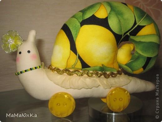 Дорогие друзья, рада приветствовать вас! Сегодня цитрусовые улитки.  Апельсинка и Лимонка. Ничего достопримечательного в них нет, чтобы описывать их. Скажу только, что украшала их дочка. Точнее продумывала как их нарядить. Моя идея -бусы у Лимонки. Желаю приятного просмотра! фото 6