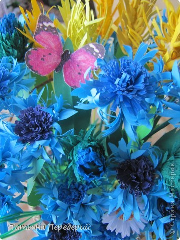 """Здравствуйте, жители СМ! Снова продолжаю свою серию """"Цветы в корзинке""""! Сегодня подготовила букет полевых цветов. Согласитесь, мимо такой красоты пройти невозможно... За МК корзинки - благодарность Светлане  http://stranamasterov.ru/node/377437. фото 7"""