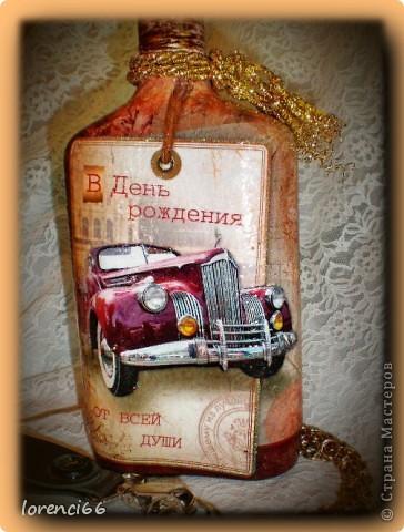 На день Рождение хорошему человеку мой друг заказал сделать подарок, открытку и бутылочку (напитк из Англии) покупал сам. фото 7