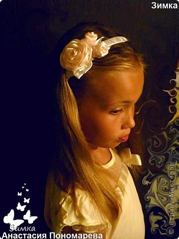 Решила попробовать сделать комплект которым можно и свадебную причёску украсить... фото 24