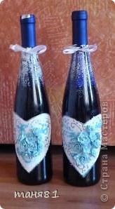 Получила я вот такой свадебный заказик. (правда делала все бесплатно). В наборе 18 бутылочек. Свадебное делала впервые. фото 9