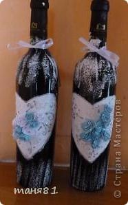 Получила я вот такой свадебный заказик. (правда делала все бесплатно). В наборе 18 бутылочек. Свадебное делала впервые. фото 11