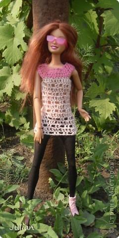 Решила я порадовать своих кукложителей новой одежкой, но не простой а вязаной, вот что из этого вышло... фото 4