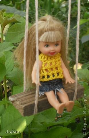 Решила я порадовать своих кукложителей новой одежкой, но не простой а вязаной, вот что из этого вышло... фото 10