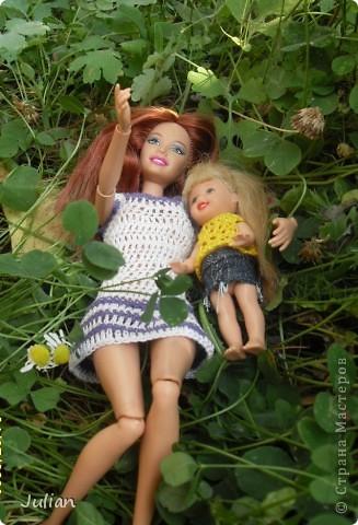 Решила я порадовать своих кукложителей новой одежкой, но не простой а вязаной, вот что из этого вышло... фото 6