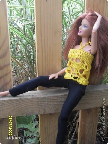 Решила я порадовать своих кукложителей новой одежкой, но не простой а вязаной, вот что из этого вышло... фото 9