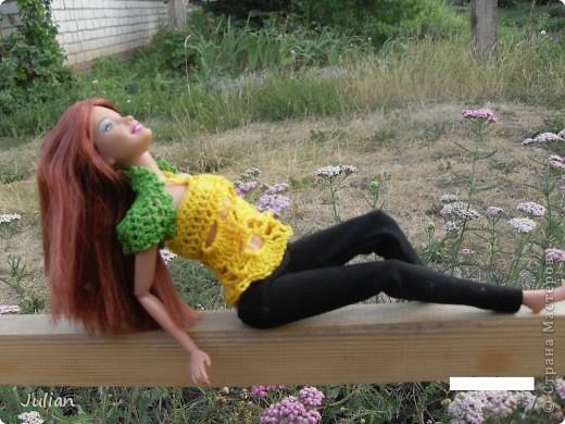 Решила я порадовать своих кукложителей новой одежкой, но не простой а вязаной, вот что из этого вышло... фото 11