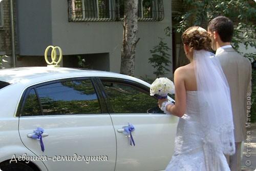 Лавандовая свадьба: украшение на автомобиль + Мастер-класс фото 48