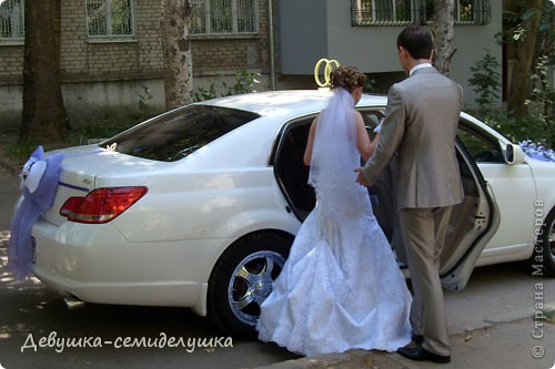 Лавандовая свадьба: украшение на автомобиль + Мастер-класс фото 1