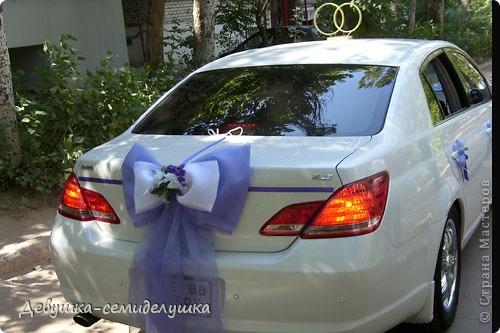 Лавандовая свадьба: украшение на автомобиль + Мастер-класс фото 47