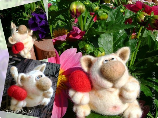 Вот такой славный котик! Моя первая валяшка!!! Спасибо за МК Елене Смирновой! Теперь и я счастливый обладатель ее книги!!! Ура!! Ура!!! фото 2