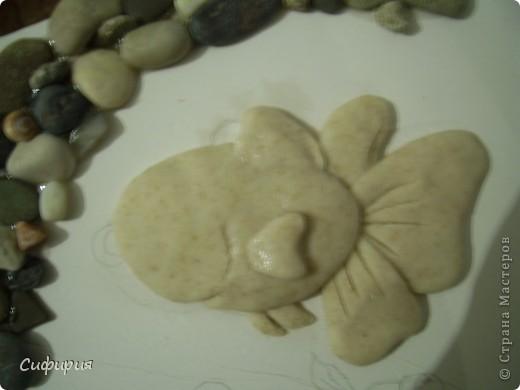 Мастер-класс Поделка изделие День рождения Лепка Рыбки в пруду Гипс Материал природный Тесто соленое фото 13