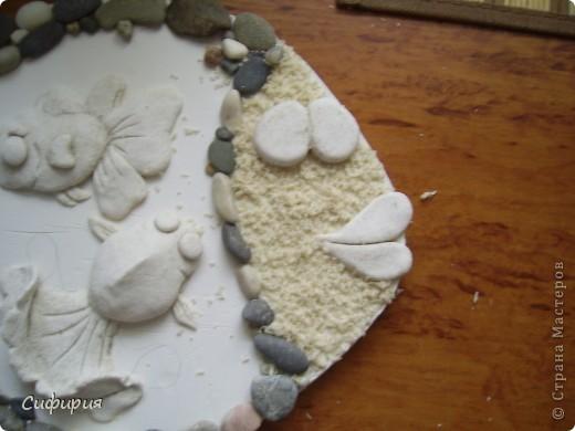 Мастер-класс Поделка изделие День рождения Лепка Рыбки в пруду Гипс Материал природный Тесто соленое фото 24