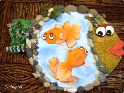 Мастер-класс Поделка изделие День рождения Лепка Рыбки в пруду Гипс Материал природный Тесто соленое фото 25