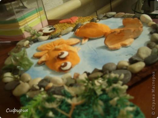 Мастер-класс Поделка изделие День рождения Лепка Рыбки в пруду Гипс Материал природный Тесто соленое фото 27