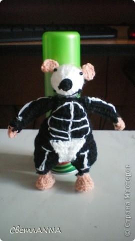 мне понравились мышки Алана Дарта, но спицами не очень люблю вязать, поэтому связала крючком фото 1