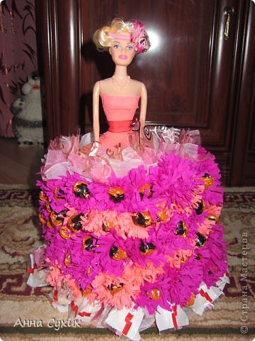 Барби из конфет (Мой 1 опыт в Свит дизайне) фото 4