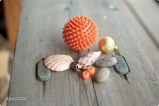 Вам понадобится:      мелкий песок     контейнер     алебастр     различные игрушки , фигурки, камушки, ракушки и т.п.     кисточка  фото 4