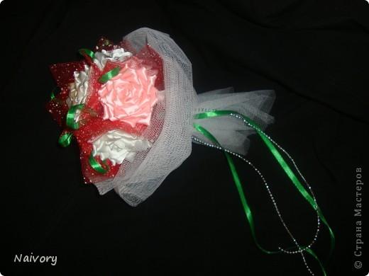 Дубль-букет для невесты. Спасибо за МК  Эльвира С.      http://stranamasterov.ru/node/359474?c=favorite_1388 фото 1