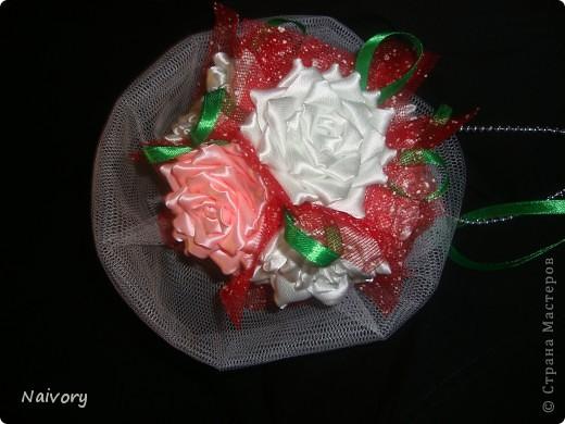 Дубль-букет для невесты. Спасибо за МК  Эльвира С.      http://stranamasterov.ru/node/359474?c=favorite_1388 фото 2