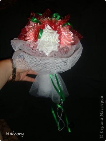 Дубль-букет для невесты. Спасибо за МК  Эльвира С.      http://stranamasterov.ru/node/359474?c=favorite_1388 фото 3