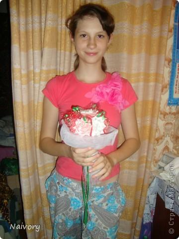 Дубль-букет для невесты. Спасибо за МК  Эльвира С.      http://stranamasterov.ru/node/359474?c=favorite_1388 фото 5