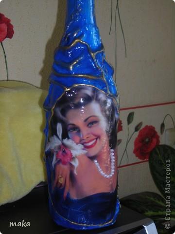 Декупаж на бутылках фото 2