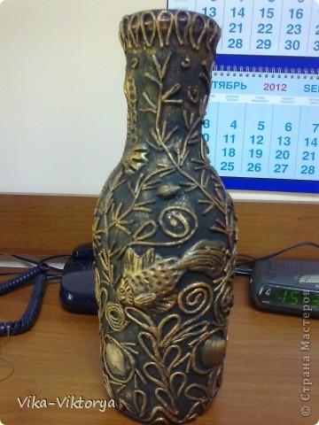 Доброго всем времени суток! Представляю очередную вазу в технике пейп-арт. Спасибо большое Татьяне Сорокиной за её мастер класс. Подобную вазу я уже выставляла. Поскольку та первая была подарена на юбилей моей дорогой и горячо любимой тетушке, то я решила сделать себе такую же. Но как говорится повторить невозможно. Поэтому эта другая.  фото 3