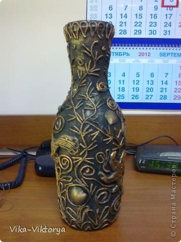 Доброго всем времени суток! Представляю очередную вазу в технике пейп-арт. Спасибо большое Татьяне Сорокиной за её мастер класс. Подобную вазу я уже выставляла. Поскольку та первая была подарена на юбилей моей дорогой и горячо любимой тетушке, то я решила сделать себе такую же. Но как говорится повторить невозможно. Поэтому эта другая.  фото 4