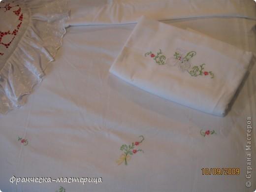 Комплект свадебного постельного белья . Вышивка ришелье и гладь. фото 4