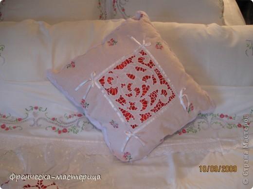 Комплект свадебного постельного белья . Вышивка ришелье и гладь. фото 7