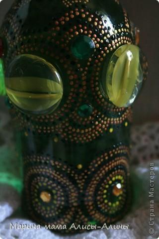 Поселилась у меня дома перед крестинами дочи вот такая бутылка .Зелёненькая такая! Обожаю зелёный цвет. фото 4