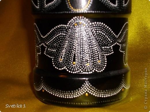 Вот на этой бутылке я училась ставить точки :) мне кажется что тут чего то не хватает... или наоборот может что то лишнее... не могу понять, может кто нибудь посоветует? :) фото 4