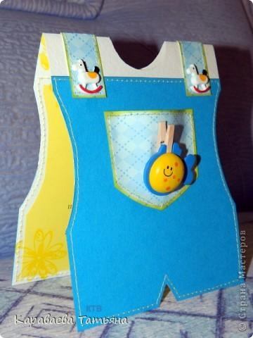 Коляска + открытка для новорожденного малыша...... фото 9
