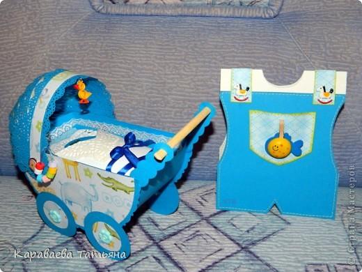 Коляска + открытка для новорожденного малыша...... фото 19