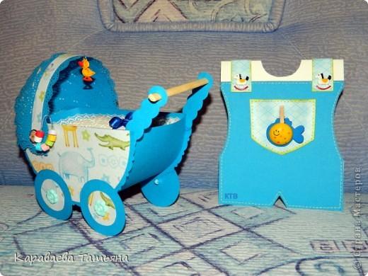 Коляска + открытка для новорожденного малыша...... фото 1