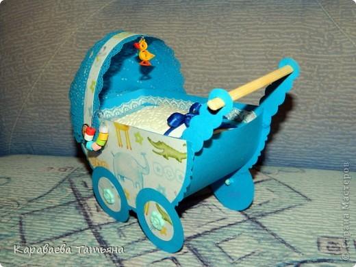 Коляска + открытка для новорожденного малыша...... фото 2