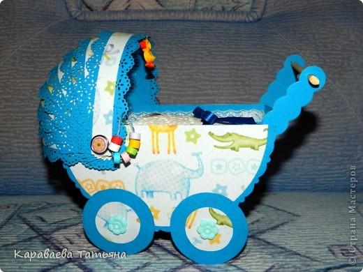 Коляска + открытка для новорожденного малыша...... фото 3