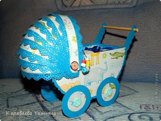 Коляска + открытка для новорожденного малыша...... фото 4