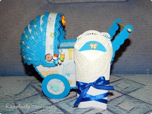 Коляска + открытка для новорожденного малыша...... фото 5