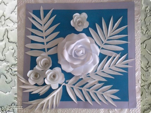 """Картина """"Букет цветов"""" в пастельных тонах. Квиллинг.  фото 8"""