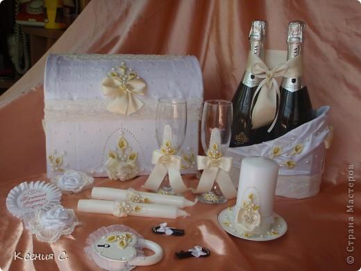 Наконец закончен мой первый свадебный набор!!! Спасибо всем за советы и поддержку!!!Я очень старалась, ну, а что получилось судить Вам и конечно заказчику!!! фото 1