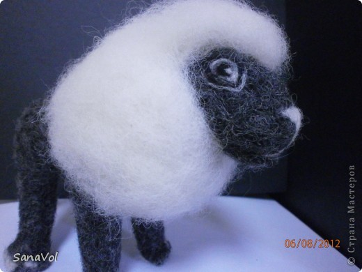Лев Соломон свалян из овечьей шерсти методом сухого валяния фото 4