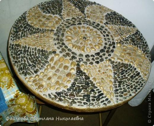 Мозаика из гальки- доступный материал для декора фото 2