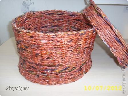 Мои пробы в плетении из бумажных трубочек. фото 4
