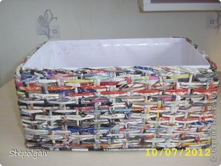 Мои пробы в плетении из бумажных трубочек. фото 2