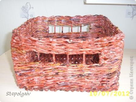 Мои пробы в плетении из бумажных трубочек. фото 6